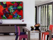 Vibrant, red, contemporary